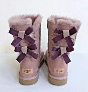 2c687dd6603 Details about UGG BAILEY BOW II SHIMMER DUSK TWINFACE WATER-RESISTANT BOOT  US 6 / EU 37 / UK 4
