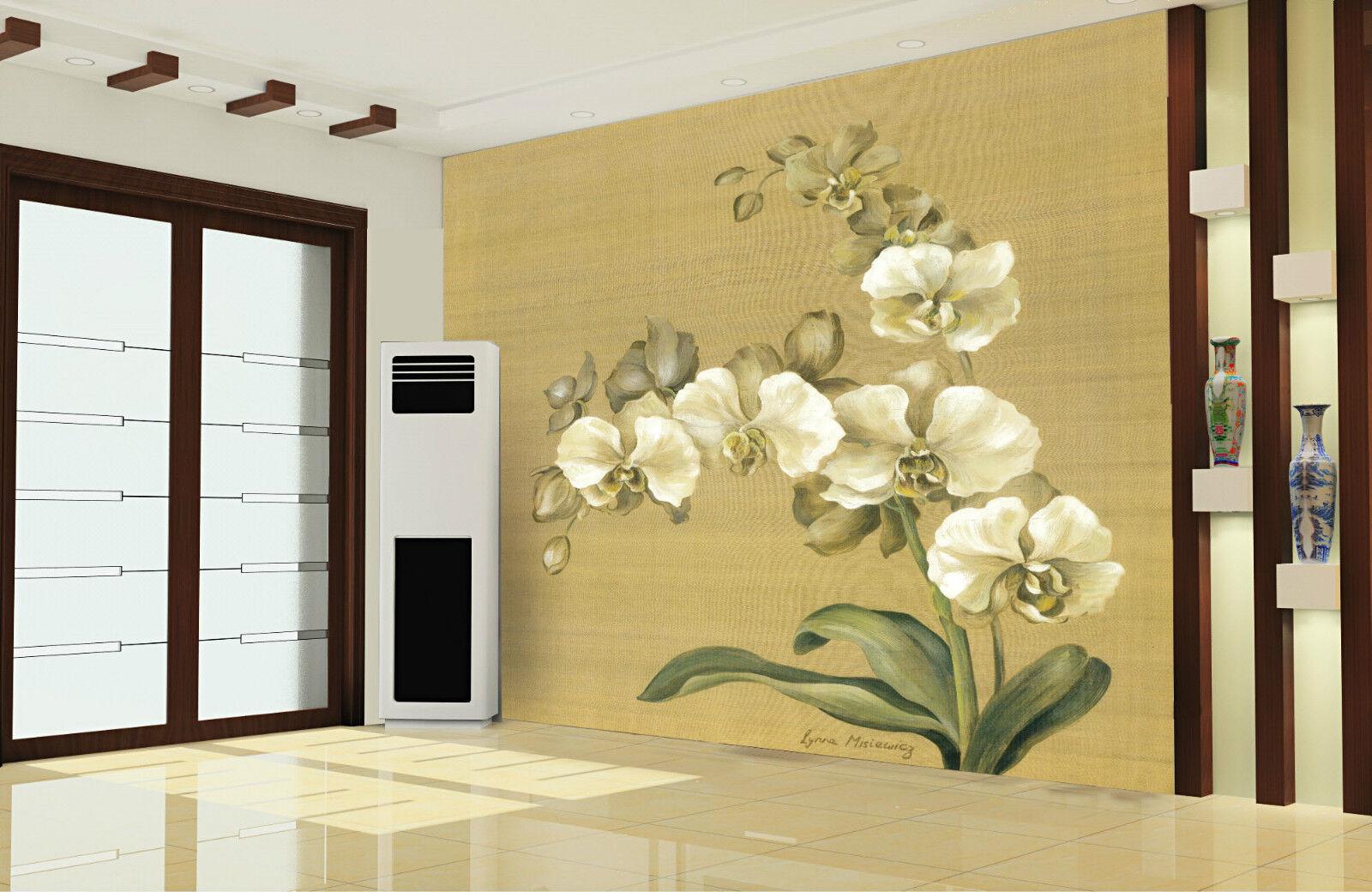 3D Orchid Elégant 8 Photo Photo Photo Papier Peint en Autocollant Murale Plafond Chambre Art d56d88