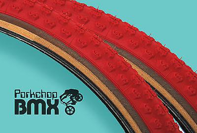 "Kenda Comp 3 III old school BMX skinwall gumwall tires 24/"" X 2.125/"" BLACK PAIR"