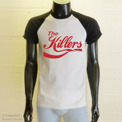 The Killers Baseball T-Shirt retro indie rock band cola parody logo