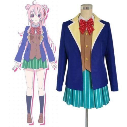 Anime Happy Sugar Life Satou Matsuzaka Cosplay Costume School Uniform Set  H.03