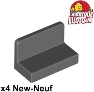 Lego-4x-Panel-Panneau-1x2x1-Rounded-Corners-gris-fonce-dark-b-gray-4865b-NEUF