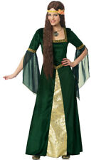 Brand New Game of Thrones Emerald Renaissance Lady Fancy Dress Adult Costume