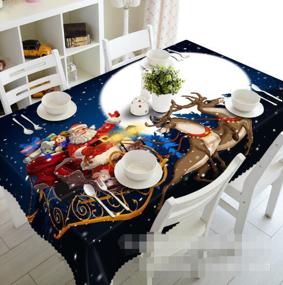 3D Deer Moon 5 Tablecloth Table Cover Cloth Birthday Party Event AJ WALLPAPER AU