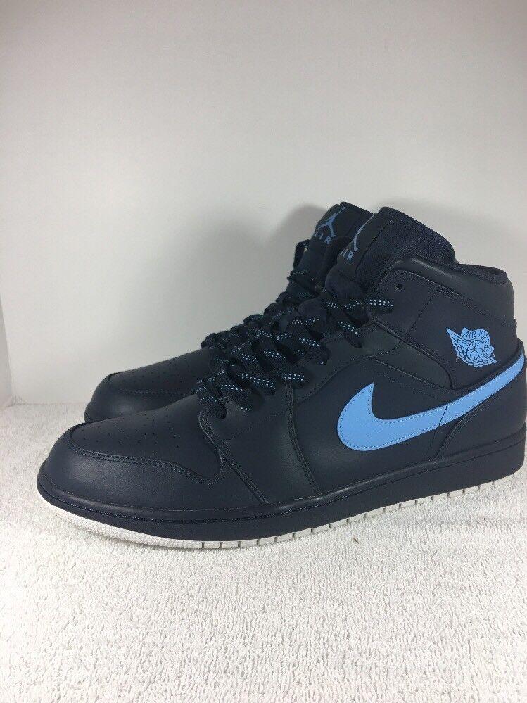 Brand discount Nike Air Jordan 1 Retro Mid Obsidiyan/Univerity Blue Retro Price reduction