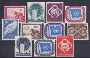 United-Nations-Sc-1-11-MNH-1951-First-Issue-complete-set-of-11-fresh-VF