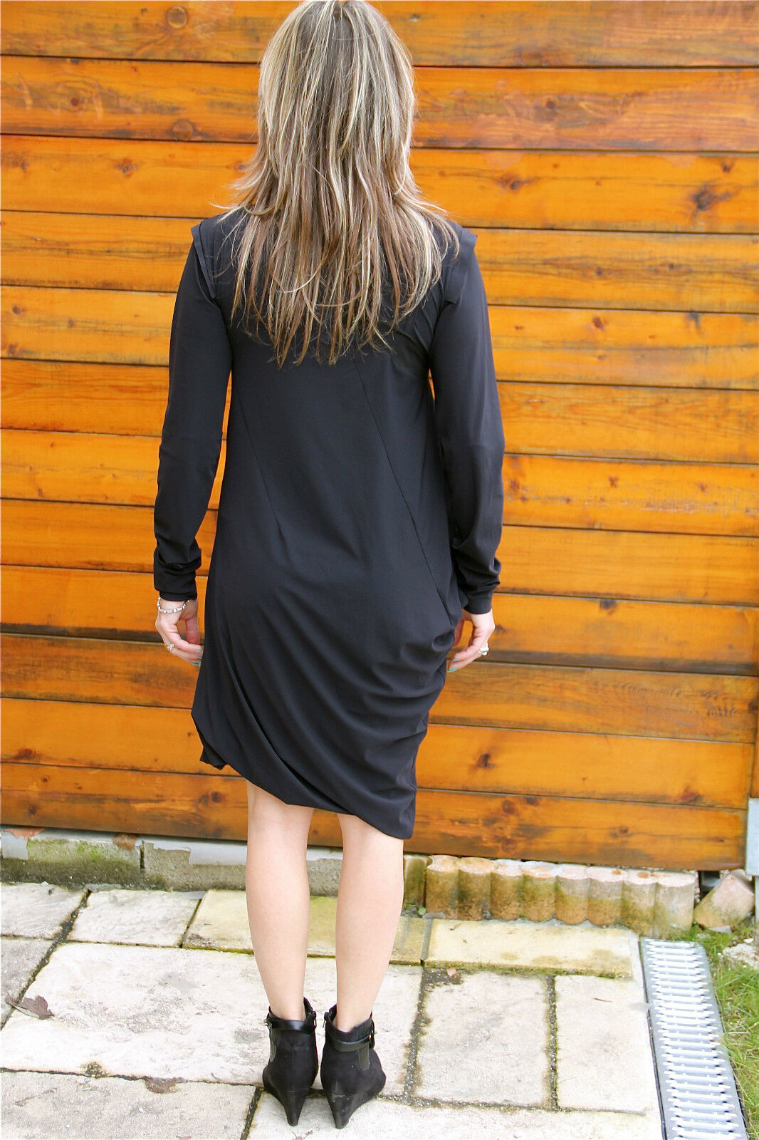 Dress robe superposée MARITHE FRANCOIS GIRBAUD wrapperess T T T 40   NEUVE ÉTIQUETTE f549b8