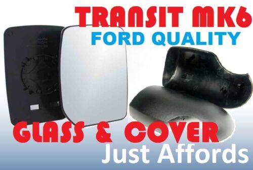 FORD Transit MK6 MK7 PORTA ALA SPECCHIO VETRO /& Cover Cap Kit di supporto passeggero