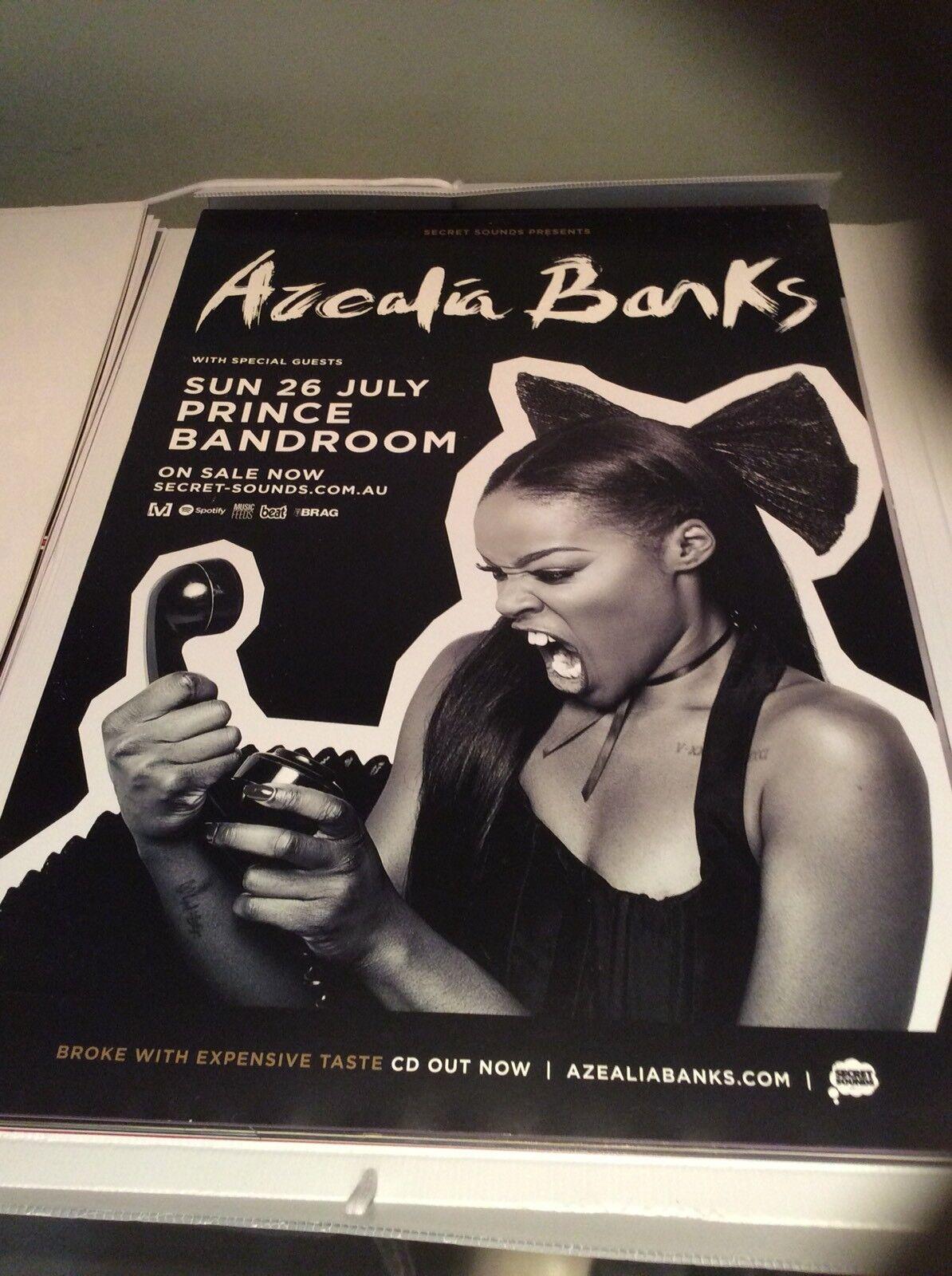 Azealia Banks Australian Tour Poster July 201?