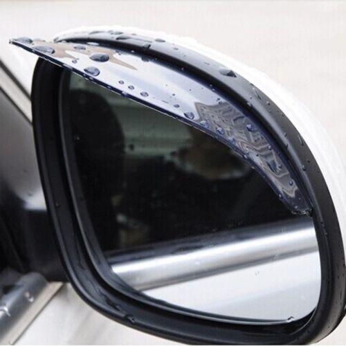 2 x Black Car Truck Rear Mirror Rain Board Eyebrow Visor Rain Shield Water Guard