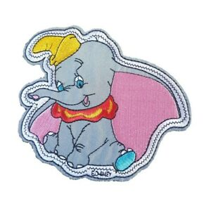 Dumbo Flying Elephant Iron On Patch Sew on Embroidered transfer 115mm x 115mm