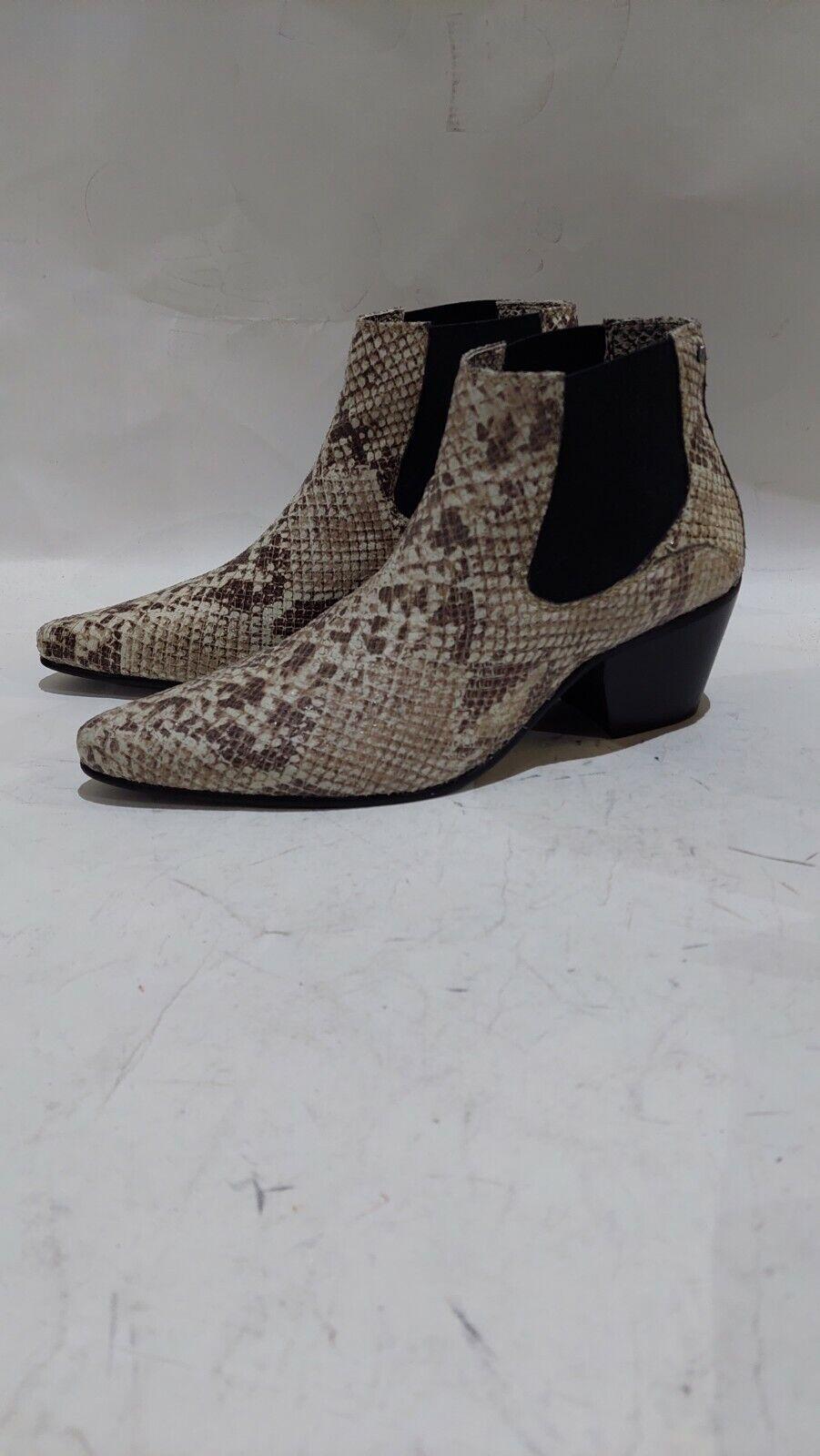 Club Cubano McCARTNEY Mens Snake Winklepicker Cuban Heel Boots Python UK 7#747