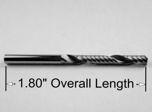 "1//8/"" x 1.00/"" Depth /'O/' Flute Carbide End Mill Aluminum Plastic Acrylic M122"