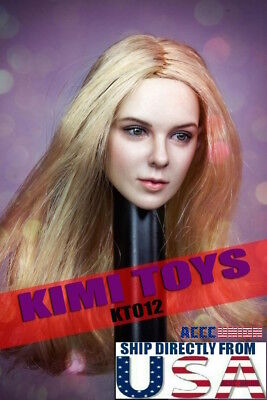 "1//6 Female Head Sculpt BLONDE HAIR For 12/"" PHICEN VERYCOOL Hot Toys Figure ☆USA☆"