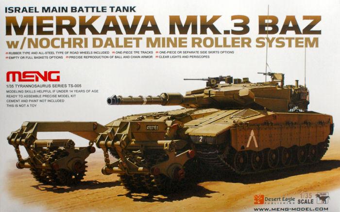 Meng Model 1 35  Merkava Mk.3 BAZ Israel Main Battle Tank w NDRS.  TS-005