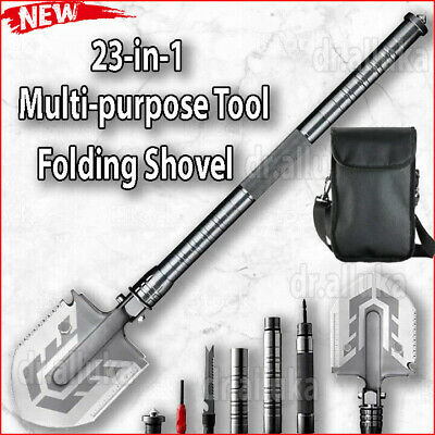 Ultimate Survival Tool 23-in-1 Multi Purpose Folding Shovel BEST QUALITY /& PRICE