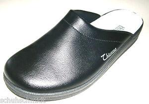 Thiesana-Herren-Schuhe-Hausschuhe-Pantoffel-Clogs-35009011-Andy-Leder-schwarz