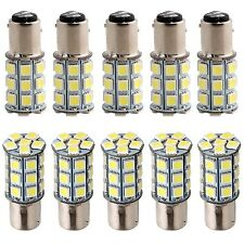 Everbrightt 10-Pack White S25 5050 1157 27SMD LED Replacement Bulb For RV... New