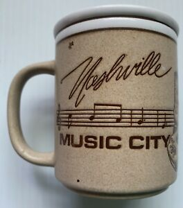 1985 NASHVILLE COUNTRY MUSIC CITY PORCELAIN COFFEE MUG, NASHVILLE, TN, VINTAGE