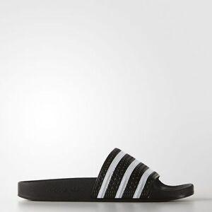 f8cb44a555f1 NEW adidas Originals ADILETTE SLIDES Men s Size11 Adi BLACK   White ...