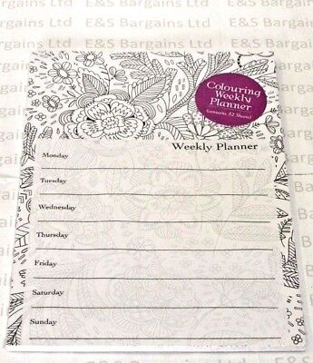 Robert Frederick A4 Colouring Weekly Planner