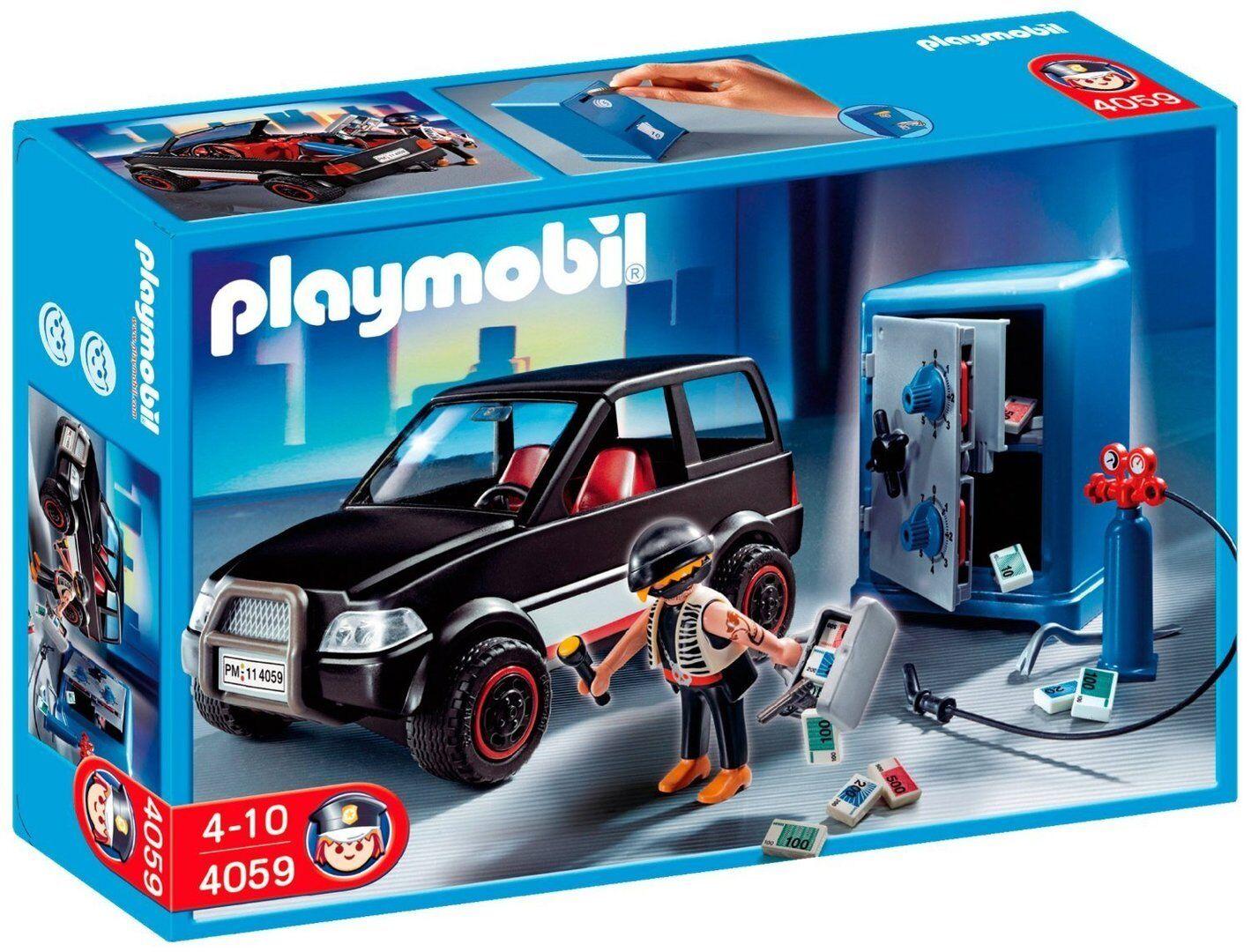 Playmobil 4059 - Ladrón con Caja Fuerte y Coche de Huida - NUEVO