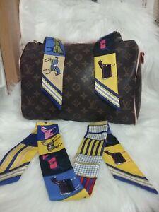1 pc Twilly Scarf Handbag Handle Protector Head Bandeau Wrist Wrap Tie NEW