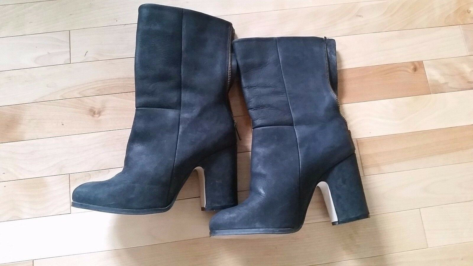 Ganni black high ankle US boots with block heel in US ankle 7.5 53f196