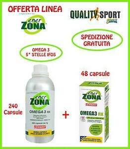 Enervit ENERZONA OMEGA 3 RX (EPA + DHA) 240 + 48 capsule da 1 g scadenza 2019