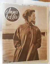 ANNA BELLA 1949 Lana cammello Bellezza femminile al cinema Tessuti invernali di