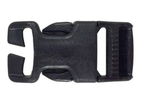 2 Hebillas reemplazo GTSR Split-Bar negra 25 mm ITW Nexus black release fast