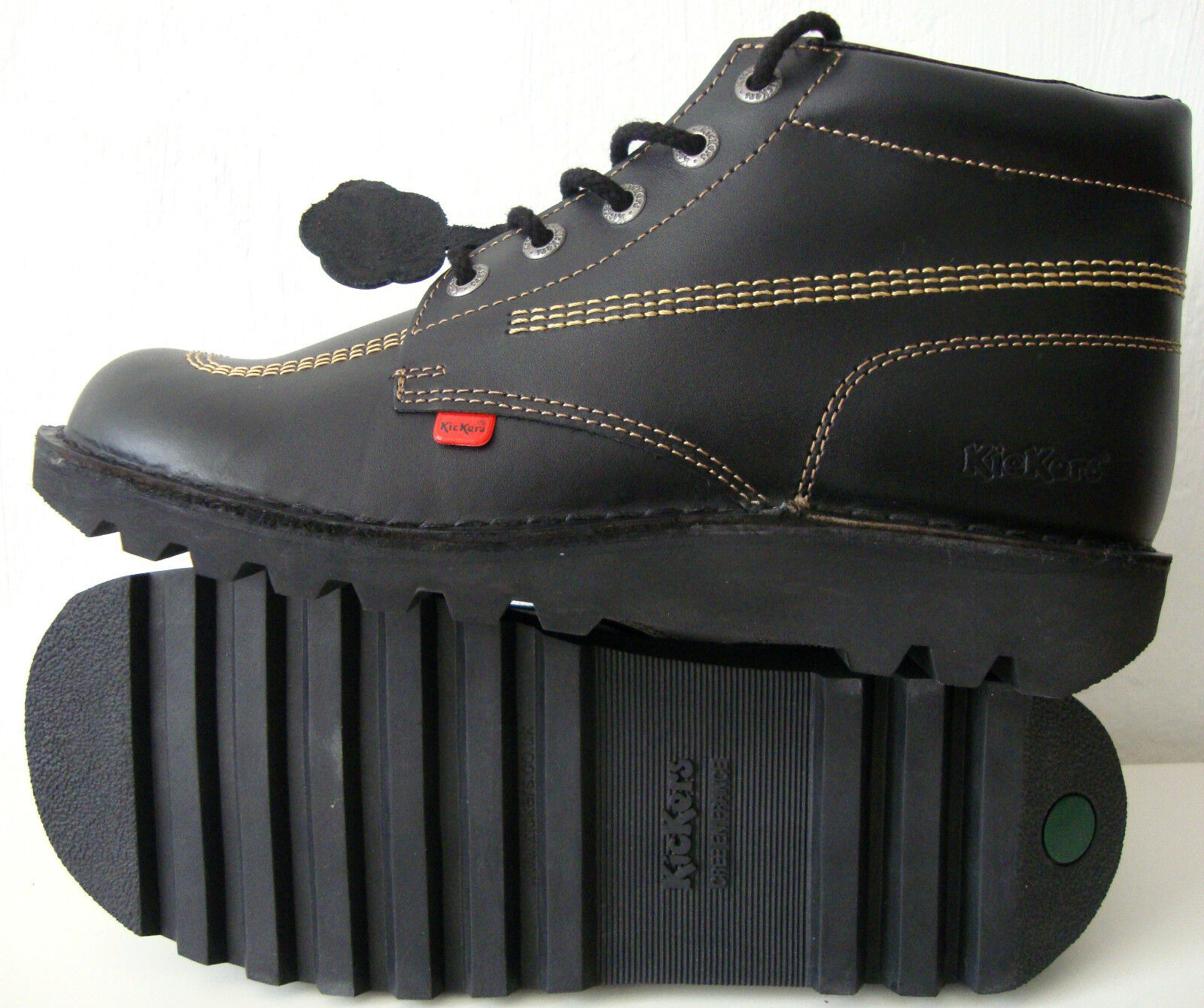KICKERS KICK HI KF 101 Klassiker Stiefelette Boots Leder Schuhe Herren Gr.45 NEU