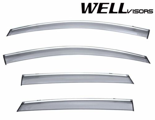For 08-15 Toyota Venza WellVisors Side Window Visors Premium Series Rain Guard