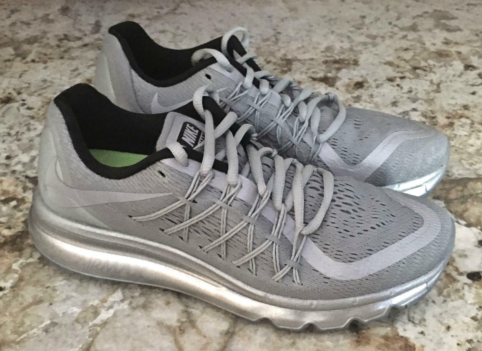 NIKE AIR MAX 360 2015 Reflective Silver Running Training shoes NEW Womens Sz 6 8