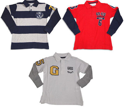 Little Boys Long Sleeve Polo Top GS-115
