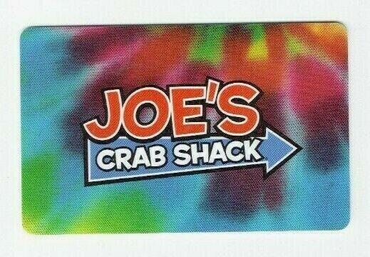 Joe's Crab Shack Gift Card Restaurant - Tie Dye - No Value - I Combine Shipping