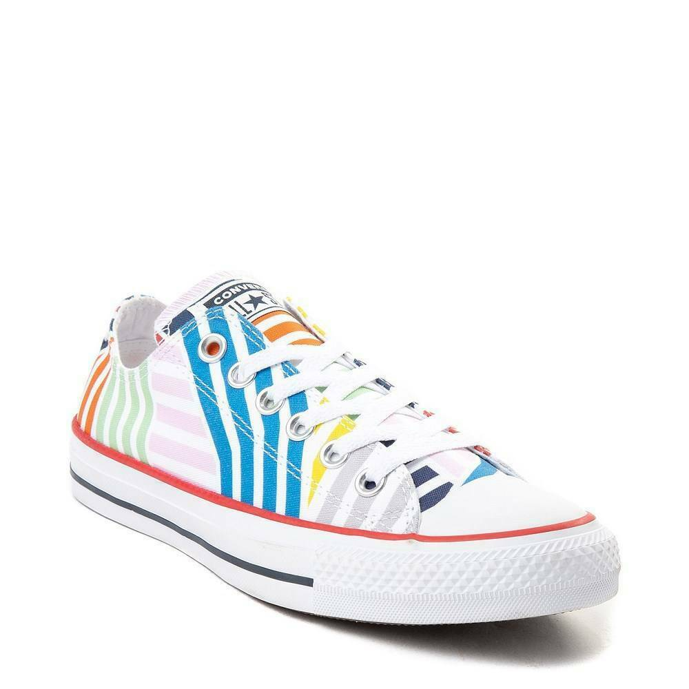 NEW Converse Chuck Taylor All Star Lo Sneaker Multi Stripes MULTI COLOR