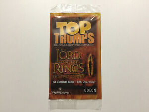LOTR 2002 UK Top Trumps Lord Of The Rings The Two Towers The Balrog Card
