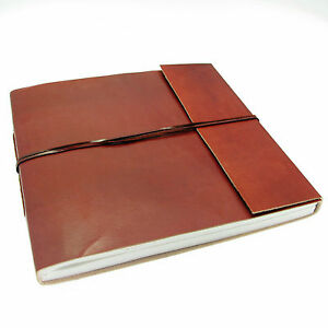Fair Trade Handmade Plain Large Leather Photo Album 2nd Quality