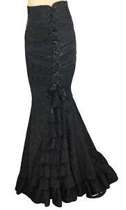 mermaid jacquard fishtail long corset gothic victorian