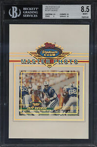 1993-Stadium-Club-5x7-Master-Photo-Jeff-George-NM-Mint-BGS-8-5-Sub-9-5-9-Colts