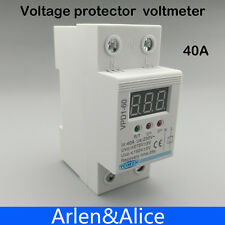 40A 220V over and under voltage protective device relay with voltmeter