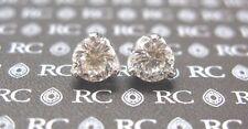 Roberto Coin 18Kt Cento Tulip Diamond Stud Earrings 2.08Ct G-VS1
