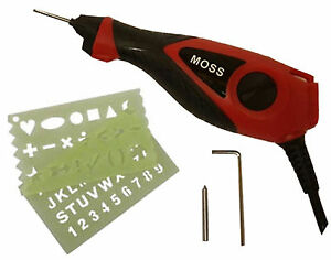 MOSS-ELECTRIC-ENGRAVER-ENGRAVING-TOOL-FOR-WOOD-METAL-GLASS-PLASTIC-WITH-STENCIL