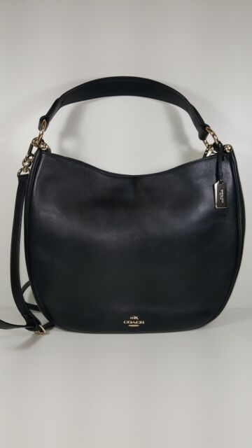 a14169943d Authentic COACH Nomad Hobo in Glovetanned Black Leather Handbag. Retail- 495