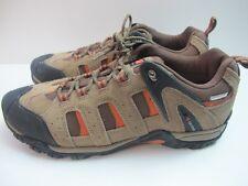 Mens Karrimor Axis Low Walking Hiking Taupe Orange Lace Uo Shoes UK 8.5 EUR 42.5