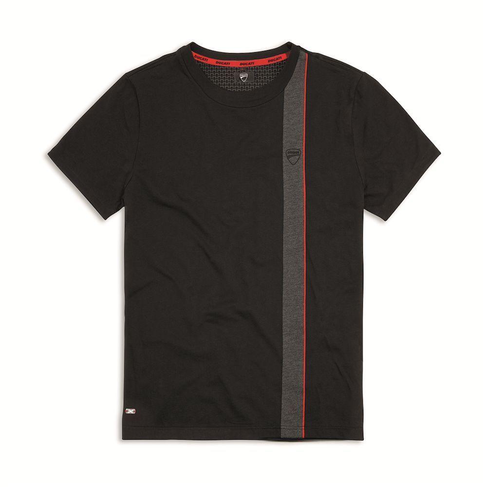 Ducati XDiavel Merge T-Shirt Herren kurzarm Shirt Freizeit Baumwolle schwarz