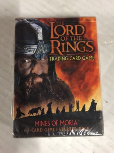LORD OF THE Rings Mines Of Moria Gimli Starter Deck CCG Factory Sealed