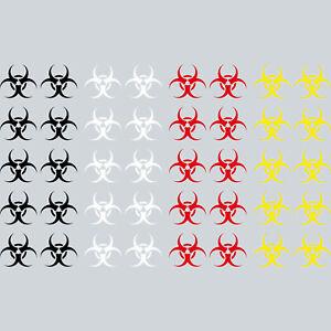 10-Sticker-3cm-Tattoo-Biohazard-Bio-Hazard-Danger-Symbol-Symbol-Decor-Film