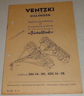 Motors Operating Instructions Ventzki Scheibeneggen Goldfinch Sdl16 20,sds16 28 Von